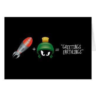 MARVIN THE MARTIAN™ Emoji Equation Card