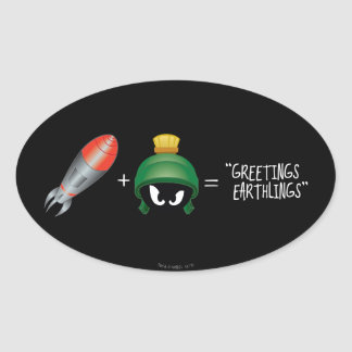 MARVIN THE MARTIAN™ Emoji Equation Oval Sticker