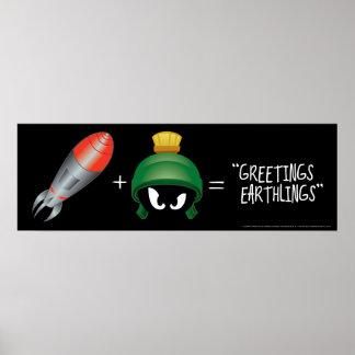 MARVIN THE MARTIAN™ Emoji Equation Poster