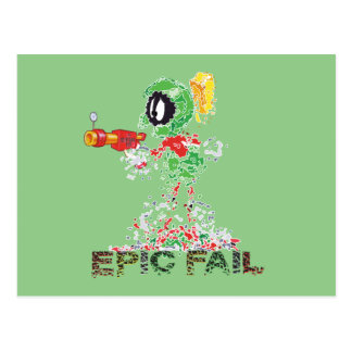 MARVIN THE MARTIAN™ Epic Fail Postcard
