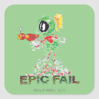MARVIN THE MARTIAN™ Epic Fail Square Sticker