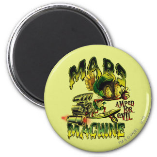 MARVIN THE MARTIAN™ Mars Machine 6 Cm Round Magnet