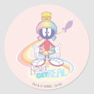 MARVIN THE MARTIAN™ Never Get Real Classic Round Sticker