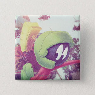 MARVIN THE MARTIAN™ On Vacation 15 Cm Square Badge