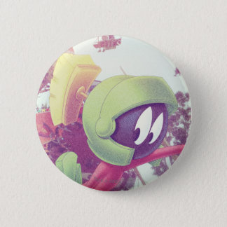 MARVIN THE MARTIAN™ On Vacation 6 Cm Round Badge