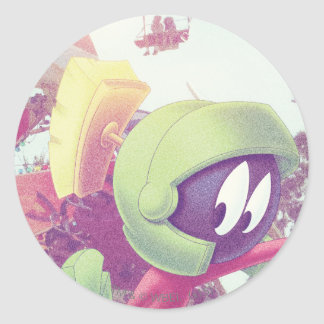 MARVIN THE MARTIAN™ On Vacation Classic Round Sticker