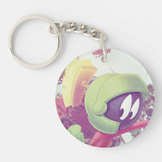 MARVIN THE MARTIAN™ On Vacation Double-Sided Round Acrylic Key Ring
