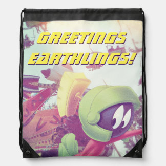 MARVIN THE MARTIAN™ On Vacation Drawstring Bag