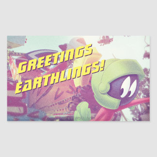 MARVIN THE MARTIAN™ On Vacation Rectangular Sticker
