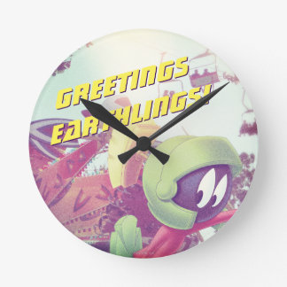 MARVIN THE MARTIAN™ On Vacation Round Clock