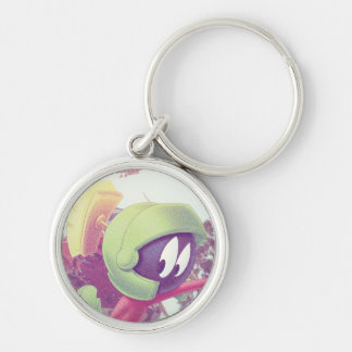 MARVIN THE MARTIAN™ On Vacation Silver-Colored Round Key Ring