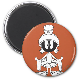 MARVIN THE MARTIAN™ Open Arms 6 Cm Round Magnet
