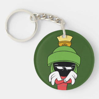 MARVIN THE MARTIAN™ Pout Double-Sided Round Acrylic Key Ring