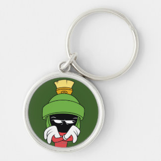 MARVIN THE MARTIAN™ Pout Silver-Colored Round Key Ring