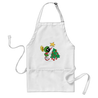 MARVIN THE MARTIAN™ putting star on tree Standard Apron
