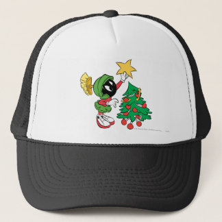 MARVIN THE MARTIAN™ putting star on tree Trucker Hat
