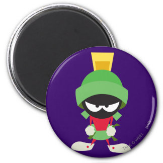 MARVIN THE MARTIAN™ Ready to Attack 6 Cm Round Magnet