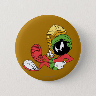 MARVIN THE MARTIAN™ Reclining With Laser 6 Cm Round Badge