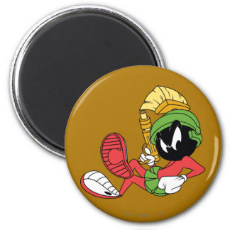 MARVIN THE MARTIAN™ Reclining With Laser 6 Cm Round Magnet