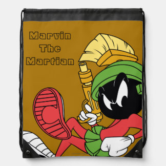 MARVIN THE MARTIAN™ Reclining With Laser Drawstring Bag