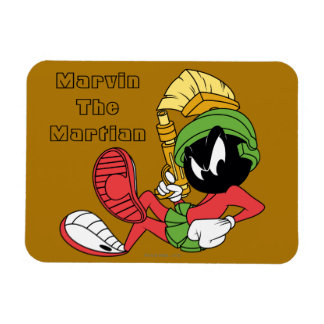 MARVIN THE MARTIAN™ Reclining With Laser Rectangular Photo Magnet