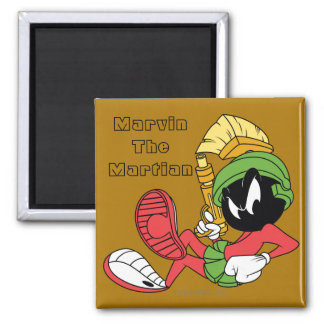 MARVIN THE MARTIAN™ Reclining With Laser Square Magnet
