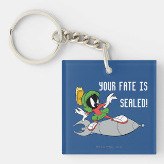MARVIN THE MARTIAN™ Riding Rocket Double-Sided Square Acrylic Key Ring