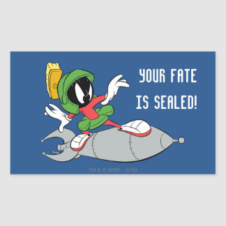 MARVIN THE MARTIAN™ Riding Rocket Rectangular Sticker
