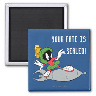 MARVIN THE MARTIAN™ Riding Rocket Square Magnet
