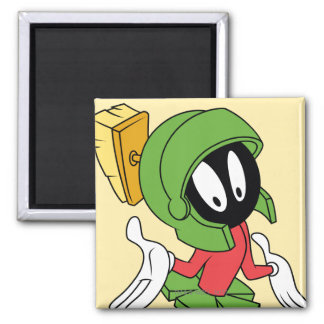 MARVIN THE MARTIAN™ Shrug Square Magnet