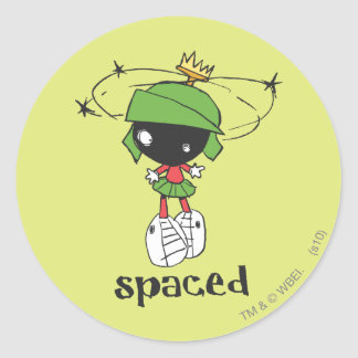 MARVIN THE MARTIAN™ Spaced Classic Round Sticker