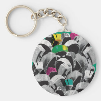 MARVIN THE MARTIAN™ Stacked Basic Round Button Key Ring