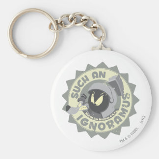 MARVIN THE MARTIAN™ Such An Ignoramus Basic Round Button Key Ring