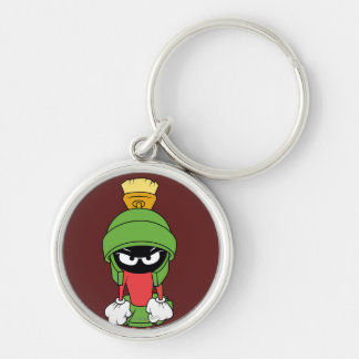 MARVIN THE MARTIAN™ Upset Silver-Colored Round Key Ring