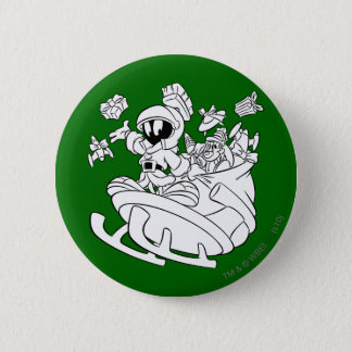 MARVIN THE MARTIAN™ with Toys 6 Cm Round Badge