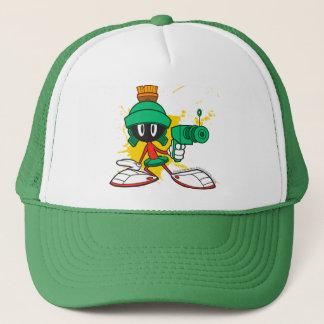 Marvin With Gun Trucker Hat