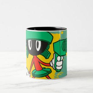 Marvin With Gun Two-Tone Coffee Mug