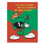 Marvin with Laser Pointed Up Postcard