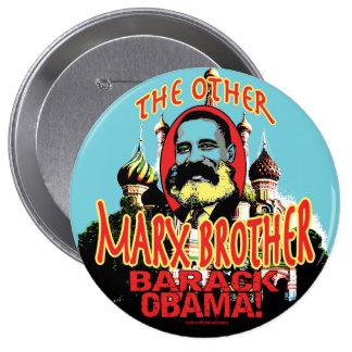 Marx Brother anti Obama Shirt 10 Cm Round Badge