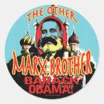 Marx Brother anti Obama Shirt Classic Round Sticker