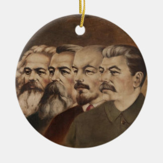 Marx, Engels, Lenin, and Stalin Christmas Ornament