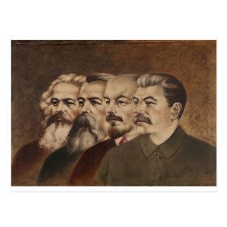Marx, Engels, Lenin, and Stalin Postcard