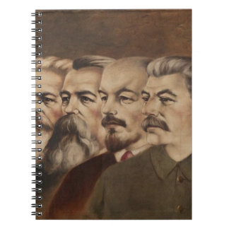 Marx, Engels, Lenin, and Stalin Spiral Note Books