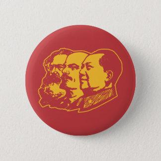 Marx Lenin Mao Portrait 6 Cm Round Badge