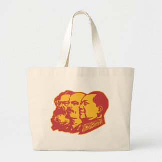 Marx Lenin Mao Portrait Large Tote Bag