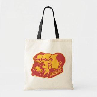 Marx Lenin Mao Portrait Canvas Bag