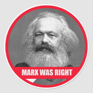 Marx Was Right Classic Round Sticker