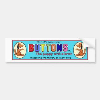MarxFiles Buttons Puppy With Brain Bumper Sticker