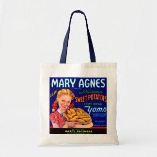 Mary Agnes Louisiana Yams Tote Bags