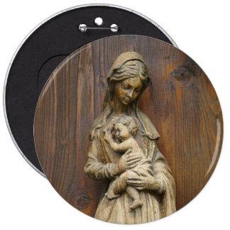 Mary And Baby Jesus 6 Cm Round Badge